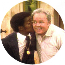 Sammy Davis Jr with Archie Bunker on All in the Family