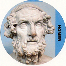 Homer, the Greek poet of The Iliad and The Odyssey