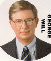 newspaper columnist George Will