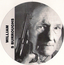 William S Burroughs with a gun