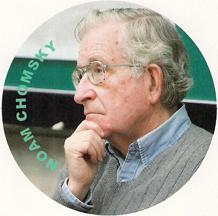 Naom Chomsky refrigerator magnet