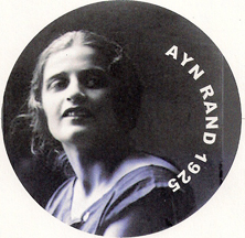 highly sexy picture of Ayn Rand, which was used for her 1925 Soviet passport photo