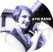 hot young Ayn Rand playing with a puppet