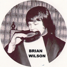 Beach Boy Brian Wilson eating lunch