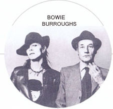 David Bowie and author William S Burroughs