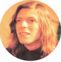 pretty long haired young David Bowie