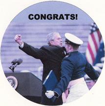 George Bush congratulatory bump to a military grad