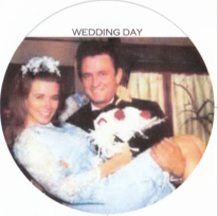 June Carter and Johnny Cash, wedding day 1968
