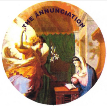 The Annunciation to Mary from the angel that she was pregnant with the Christ child