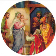 the three wise men worshiping the Christ child