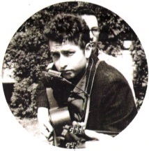 serious young Bob Dylan