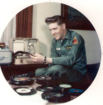 Sgt Elvis Presley listening to records