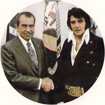 Elvis Presley and Richard Nixon