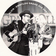 Emmylou Harris and Elvis Costello playing the Grand Ole Opry