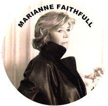 beautiful mature Marianne Faithfull in a leather jacket