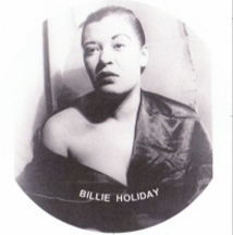 Sad 1949 photo of Billie Holiday