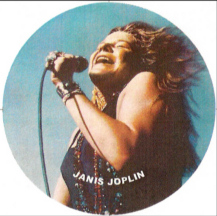 Janis Joplin on the mic