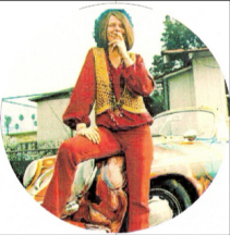Janis Joplin and her famous psychedelic car