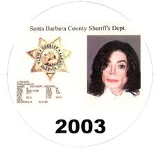 Michael Jackson 2003 mugshot