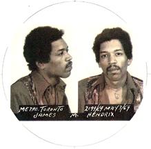 Jimi Hendrix 1969 mugshot
