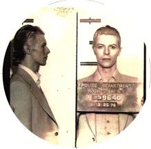 David Bowie 1976 mugshot