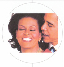 a beautiful representation of marital bliss between Barack and Michelle Obama