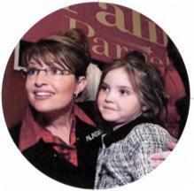 Sarah and Piper Palin