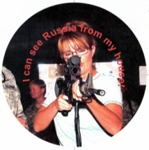 Sarah Palin with a gun