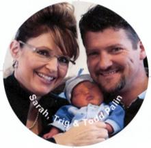 Sarah, Todd and Trig Palin