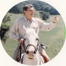 white knight on horseback Ronald Wilson Reagan