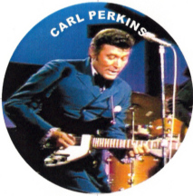 Carl Perkins playing guitar