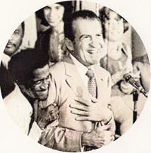 Sammy Davis Jr and President Richard Nixon