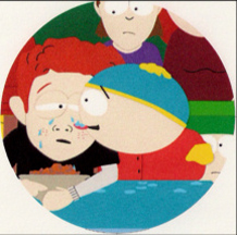 Eric Cartman tastes Scott Tenorman's tears of unfathomable sadness