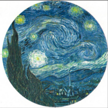 The Starry Night refrigerator magnet