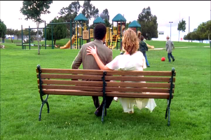 Trudy and Adrian Monk at a playground