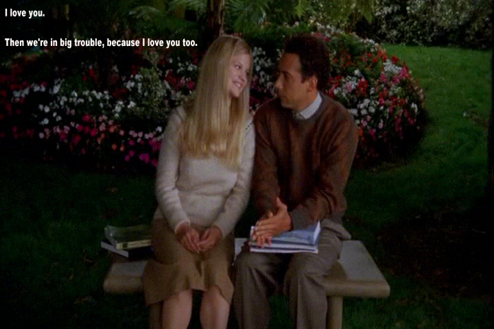 Adrian Monk and Trudy Ellison's very first profession of love
