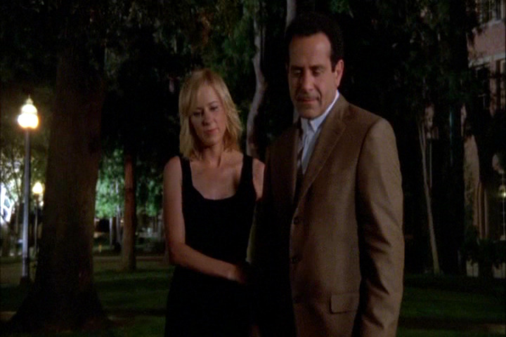 Traylor Howard and Tony Shalhoub in Monk