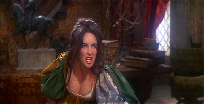 Elizabeth Taylor as Katherina in Taming of the Shrew