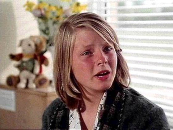 Jodie Foster has a nice cry in the 1977 film Candleshoe, age 14