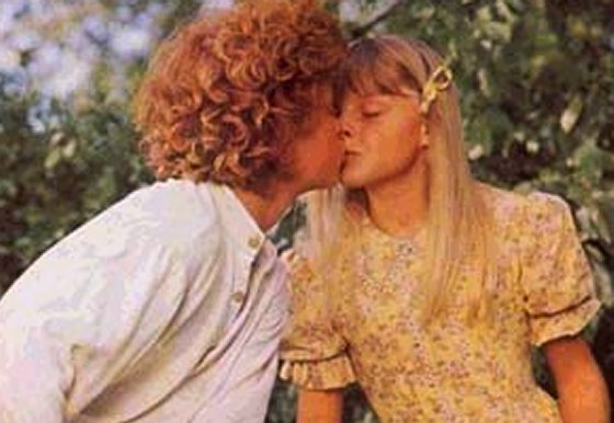 Johnny Whitaker kissing 10 year old Jodie Foster.  One presumes he must consider this one of the high points of his life.