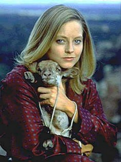 Jodie Foster and a silent lamb