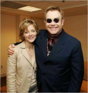 Jodie Foster and Elton John