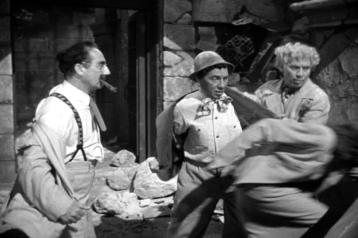 The Marx Brothers prepare to chase the fox