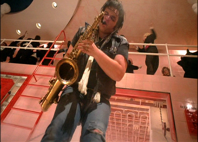 Meatloaf playing saxophone in The Rocky Horror Picture Show