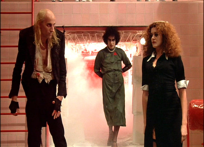 Richard O'Brien, Tim Curry and Patricia Quinn in The Rocky Horror Picture Show, 1975 image