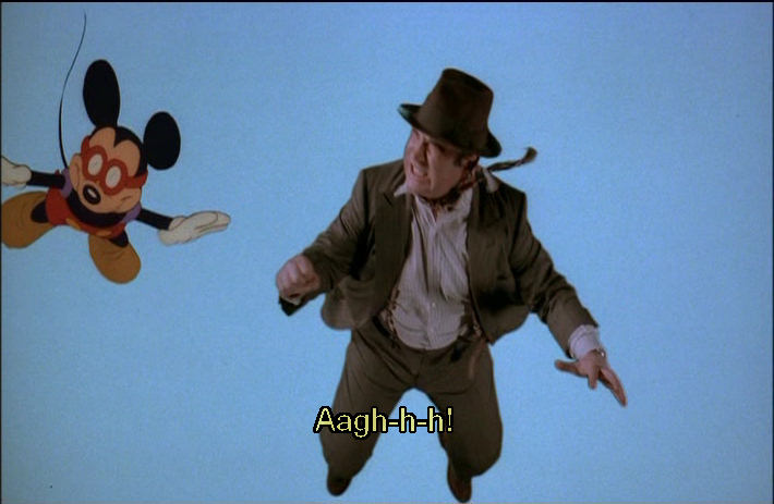 Images of Bugs Bunny and Mickey Mouse in Who Framed Roger Rabbit?