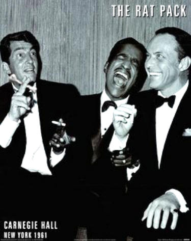 Dean Martin, Sammy Davis Jr and Frank Sinatra, 1961 photo