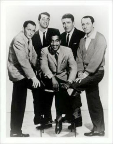 Frank Sinatra, Dean Martin, Peter Lawford, Joey Bishop and Sammy Davis Jr - the Rat Pack