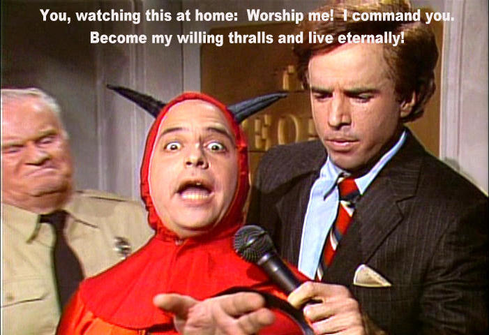 Jon Lovitz as the devil on Saturday Night Live