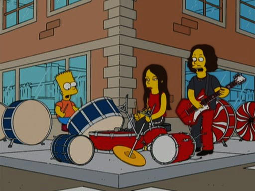 Bart Simpson and the White Stripes from a 2006 episode of The Simpsons